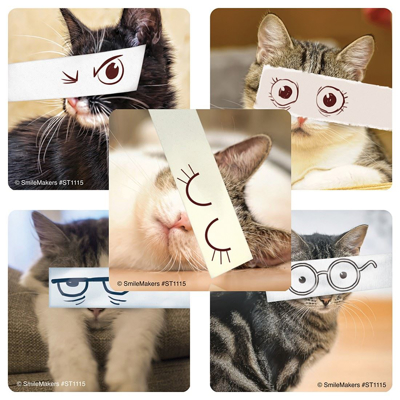 Picture of Cartoon Cat Eyes Stickers 100/Roll
