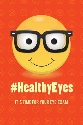 "Picture of Healthy Eyes Emoji (4"" X 6"")"
